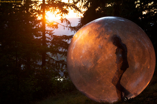 Wayne Coyne in his ball