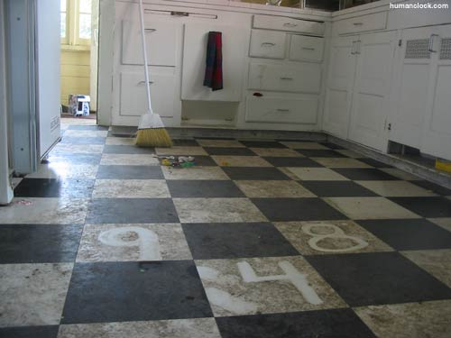 The Dirty Kitchen Floor of Chris!