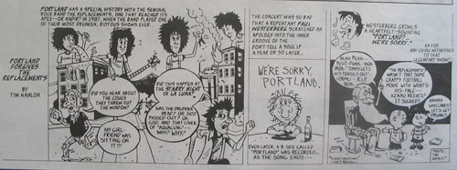 Portland Forgives the Replacements - by Tim Hanlon