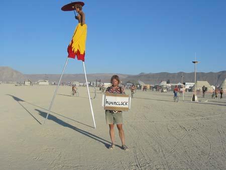 Humanclock at Burning Man 2003