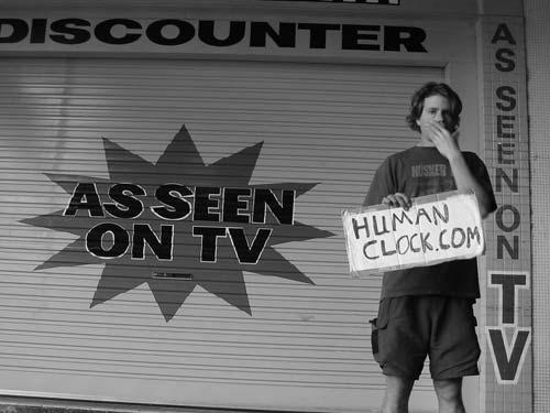 Clock on TV